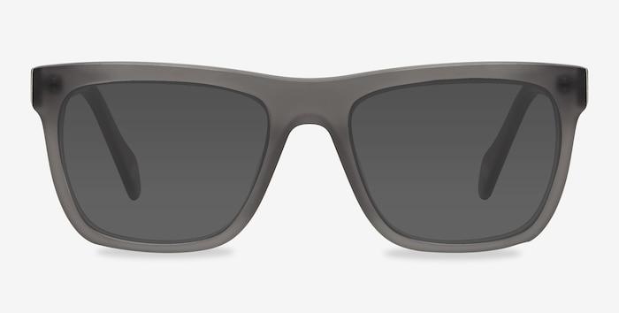 Virtual Matte Gray Acétate Soleil de Lunettes d'EyeBuyDirect, Vue de Face