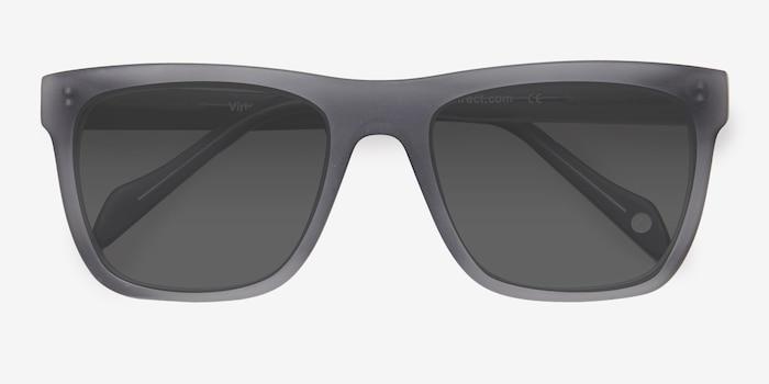 Virtual Matte Gray Acétate Soleil de Lunettes d'EyeBuyDirect, Vue Rapprochée