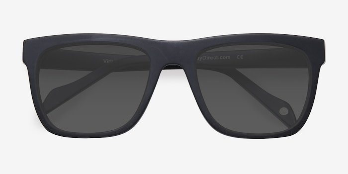 Virtual Matte Black Acetate Sunglass Frames from EyeBuyDirect, Closed View