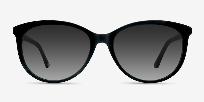 Calypso  Black  Plastic Sunglass Frames from EyeBuyDirect, Front View