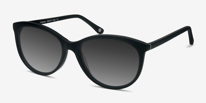 Calypso  Black  Plastic Sunglass Frames from EyeBuyDirect, Angle View