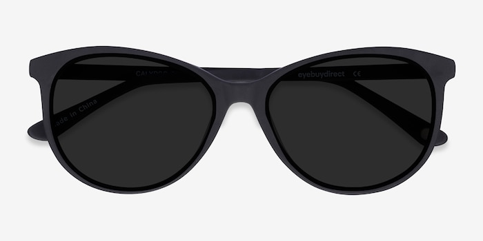 Calypso  Black  Acetate Sunglass Frames from EyeBuyDirect, Closed View
