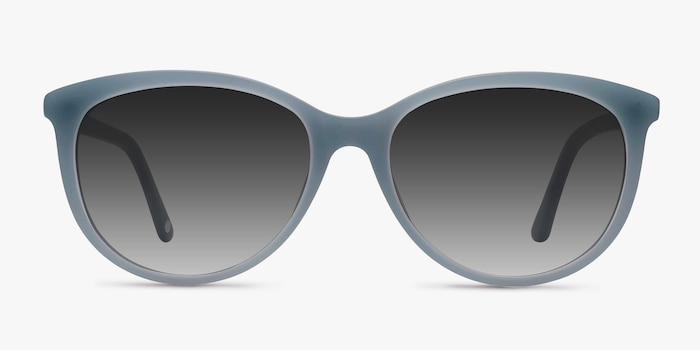 Calypso Blue Plastic Sunglass Frames from EyeBuyDirect, Front View