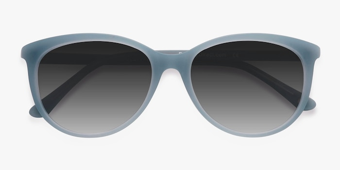 Calypso Blue Plastic Sunglass Frames from EyeBuyDirect, Closed View
