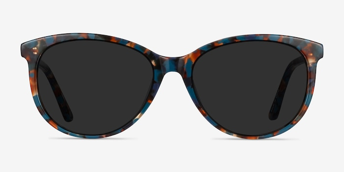 Calypso Floral Acetate Sunglass Frames from EyeBuyDirect, Front View