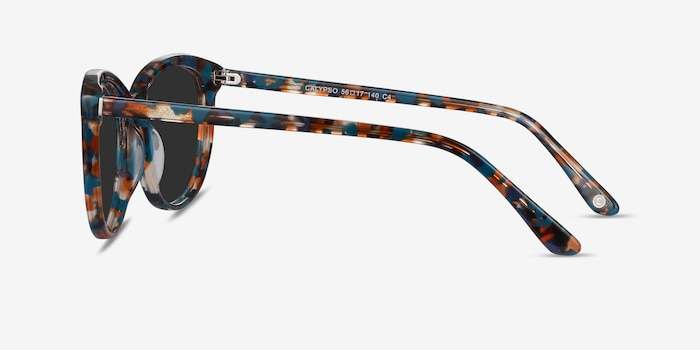 Calypso Floral Acetate Sunglass Frames from EyeBuyDirect, Side View