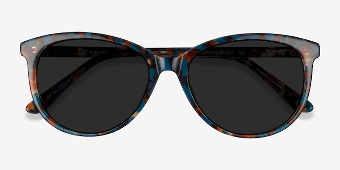 Calypso Floral Acetate Sunglass Frames from EyeBuyDirect, Closed View