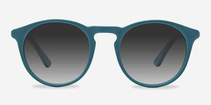 Air Matte Green Acetate Sunglass Frames from EyeBuyDirect, Front View