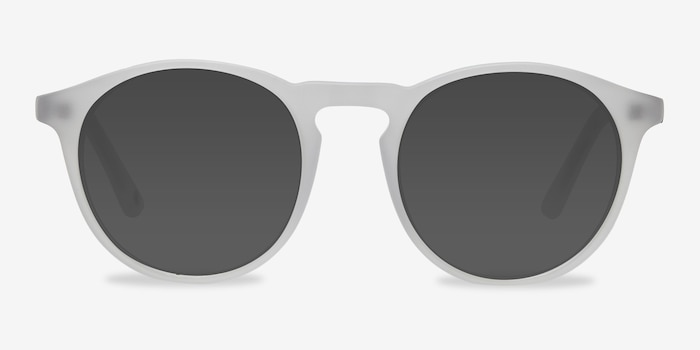 Air Matte White Acetate Sunglass Frames from EyeBuyDirect, Front View