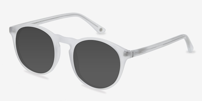 Air Matte Clear Acetate Sunglass Frames from EyeBuyDirect, Angle View