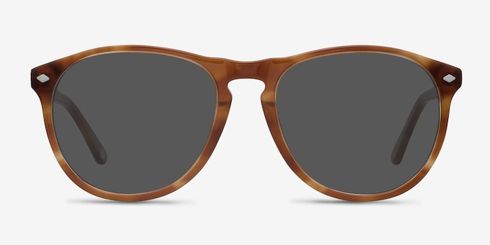 Deep End  Tortoise  Acetate Sunglass Frames from EyeBuyDirect, Front View