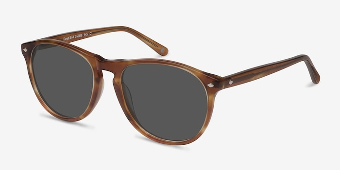 Deep End  Tortoise  Acetate Sunglass Frames from EyeBuyDirect, Angle View