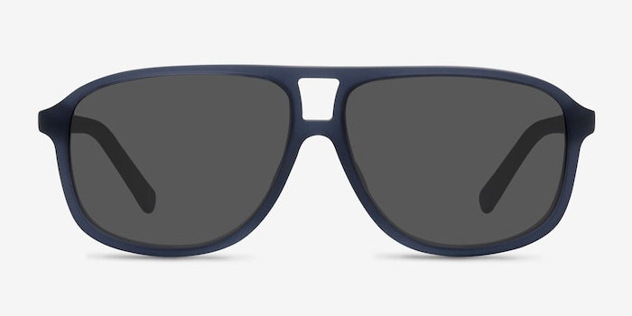 Bart Matte Blue Acetate Sunglass Frames from EyeBuyDirect, Front View