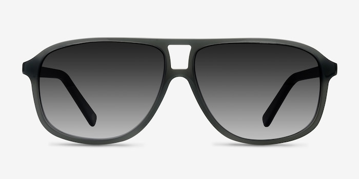 Bart Matte Gray Acetate Sunglass Frames from EyeBuyDirect, Front View