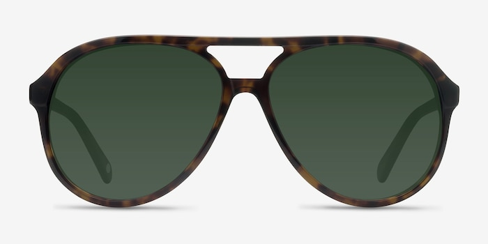Jakarta Tortoise Acetate Sunglass Frames from EyeBuyDirect, Front View
