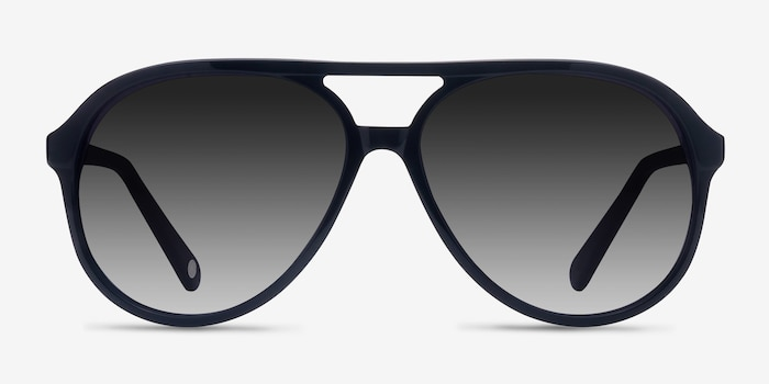 Jakarta Black Acetate Sunglass Frames from EyeBuyDirect, Front View