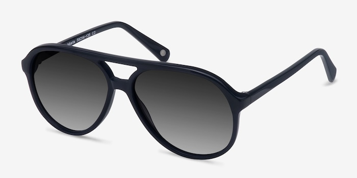 Jakarta Black Acetate Sunglass Frames from EyeBuyDirect, Angle View