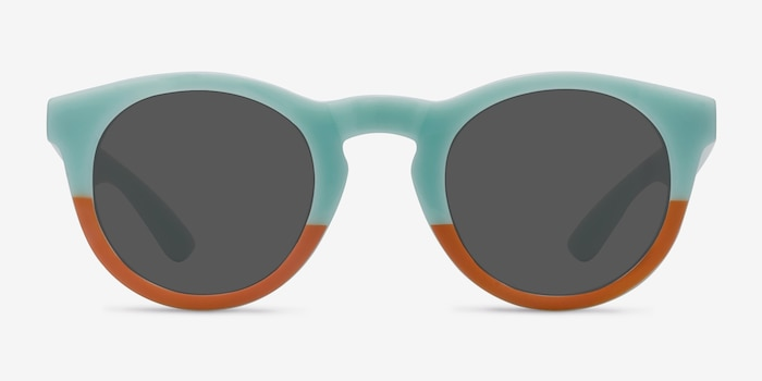 Sunset  Light Blue  Plastique Soleil de Lunettes d'EyeBuyDirect, Vue de Face