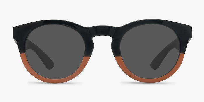 Sunset Black Plastic Sunglass Frames from EyeBuyDirect, Front View