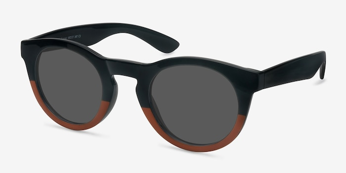 Sunset Black Plastic Sunglass Frames from EyeBuyDirect, Angle View