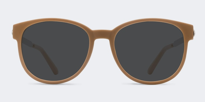 Terracotta Matte Orange Metal Sunglass Frames from EyeBuyDirect, Front View