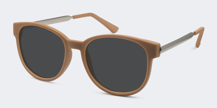 Terracotta Matte Orange Metal Sunglass Frames from EyeBuyDirect, Angle View