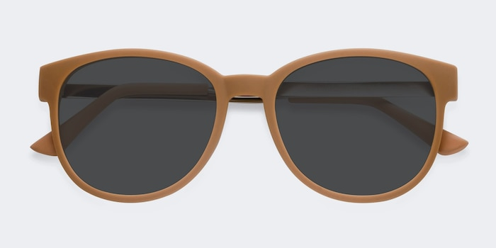 Terracotta Matte Orange Metal Sunglass Frames from EyeBuyDirect, Closed View