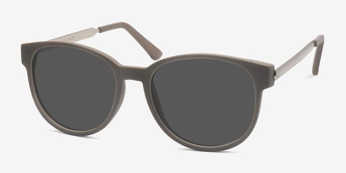 Terracotta Dark Green Plastic Sunglass Frames from EyeBuyDirect, Angle View