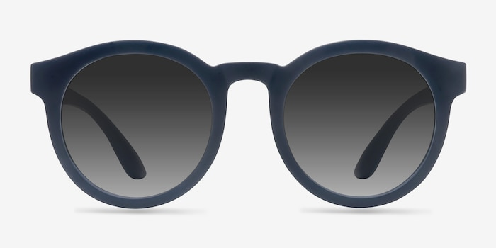 Oasis Matte Navy Plastic Sunglass Frames from EyeBuyDirect, Front View