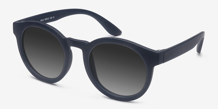 Oasis Matte Navy Plastic Sunglass Frames from EyeBuyDirect, Angle View