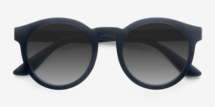 Oasis Matte Navy Plastic Sunglass Frames from EyeBuyDirect, Closed View