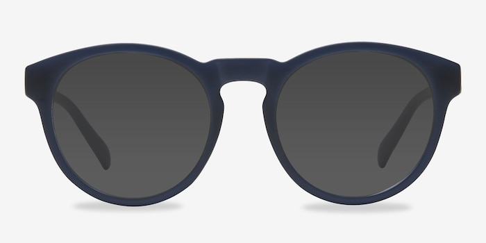 Taylor Matte Navy Plastic Sunglass Frames from EyeBuyDirect, Front View