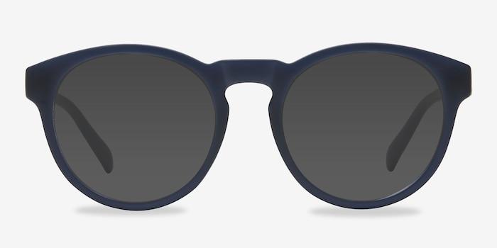Taylor Matte Navy Plastique Soleil de Lunettes d'EyeBuyDirect, Vue de Face