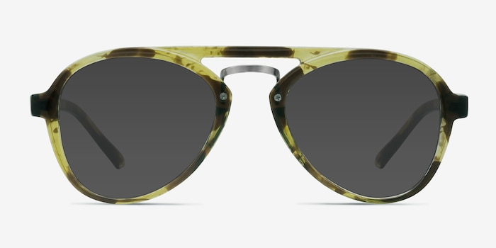 Chips Tortoise Plastic Sunglass Frames from EyeBuyDirect, Front View