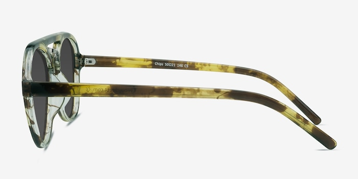 Chips Tortoise Plastic Sunglass Frames from EyeBuyDirect, Side View