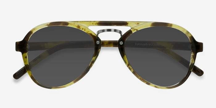 Chips Tortoise Plastic Sunglass Frames from EyeBuyDirect, Closed View
