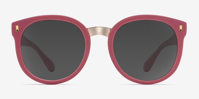 Vedette Matte Pink Metal Sunglass Frames from EyeBuyDirect, Front View