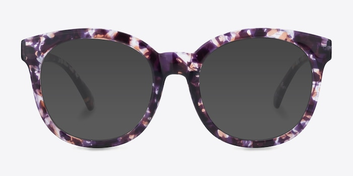 Elena Floral Plastic Sunglass Frames from EyeBuyDirect, Front View