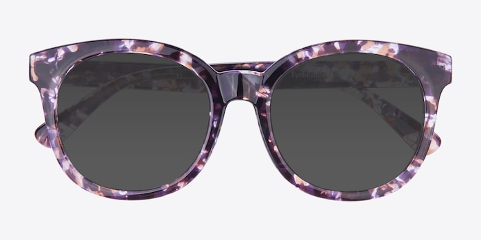 Elena Floral Plastic Sunglass Frames from EyeBuyDirect, Closed View
