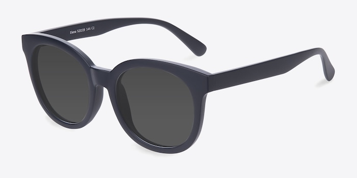 Elena Matte Navy Plastic Sunglass Frames from EyeBuyDirect, Angle View