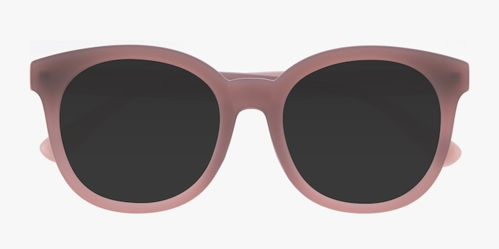 Elena Matte Brown Plastic Sunglass Frames from EyeBuyDirect, Closed View
