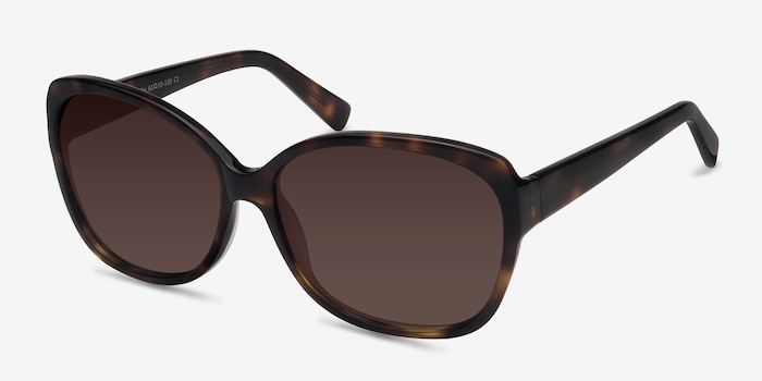 Sevilla  Tortoise  Acetate Sunglass Frames from EyeBuyDirect, Angle View