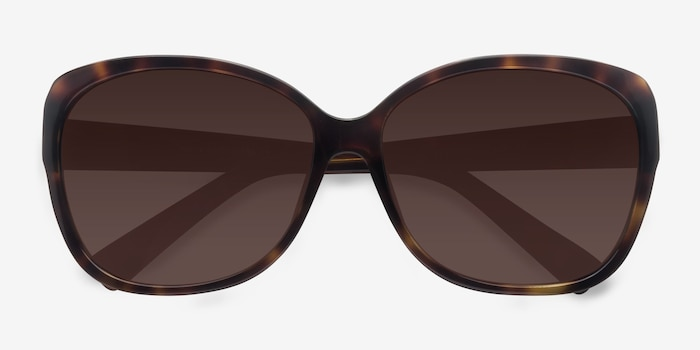Sevilla  Tortoise  Acetate Sunglass Frames from EyeBuyDirect, Closed View