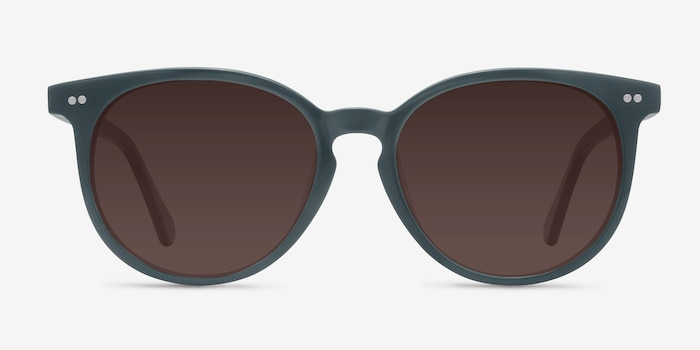 Meraki Gray Acetate Sunglass Frames from EyeBuyDirect, Front View