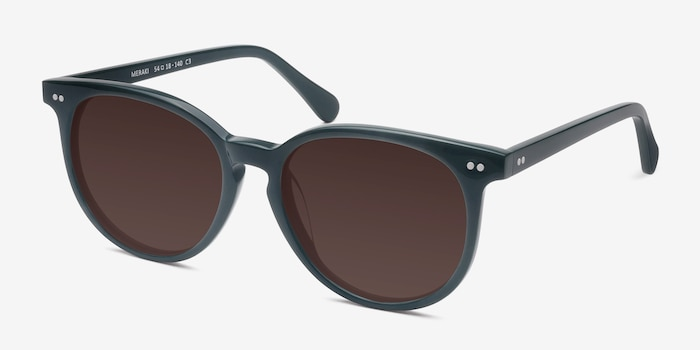 Meraki Gray Acetate Sunglass Frames from EyeBuyDirect, Angle View