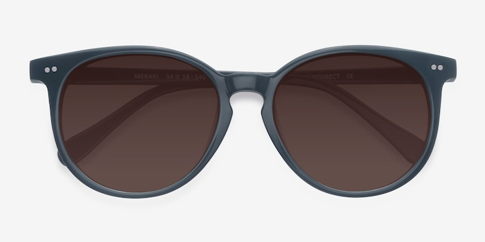 Meraki Gray Acetate Sunglass Frames from EyeBuyDirect, Closed View