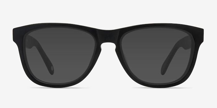 Malibu Matte Black Acetate Sunglass Frames from EyeBuyDirect, Front View