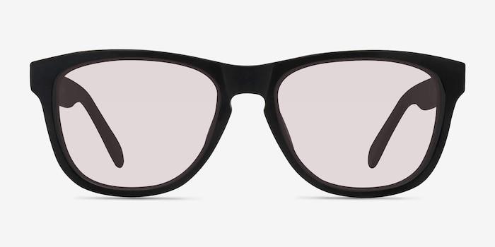 Malibu Matte Black Acétate Soleil de Lunette de vue d'EyeBuyDirect, Vue de Face