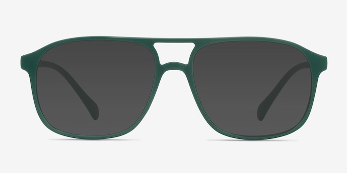 Mead Green Plastic Sunglass Frames from EyeBuyDirect, Front View