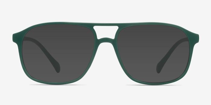 Mead Vert Plastique Soleil de Lunettes d'EyeBuyDirect, Vue de Face